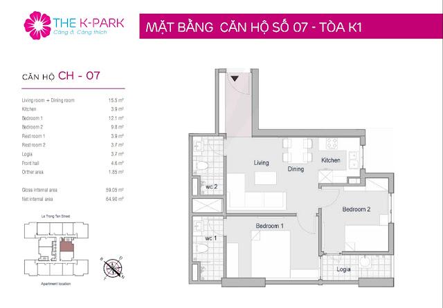 Thiết kế căn hộ số 07