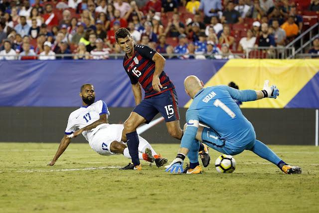 Martinica anota un gol a la selección de Estados Unidos en la Copa de Oro 2017, pero no le alcanzó para el empate