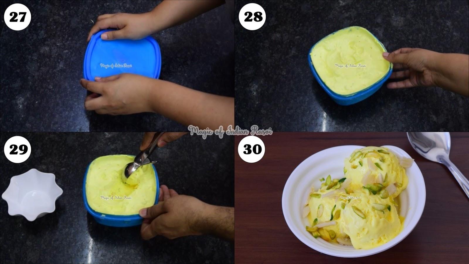 Rajbhog Ice Cream Recipe - Homemade Ice Cream - राजभोग आइसक्रीम रेसिपी - Priya R - Magic of Indian Rasoi