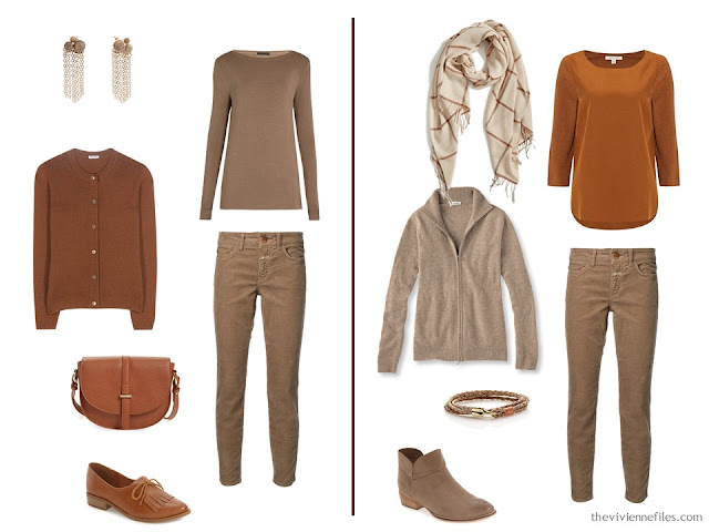 Capsule wardrobe colour palette inspiration - a dash of cinnamon with beige