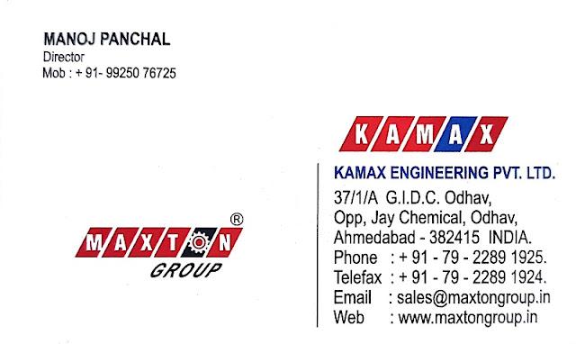 Kamax Engineering Pvt Ltd - 9925076725