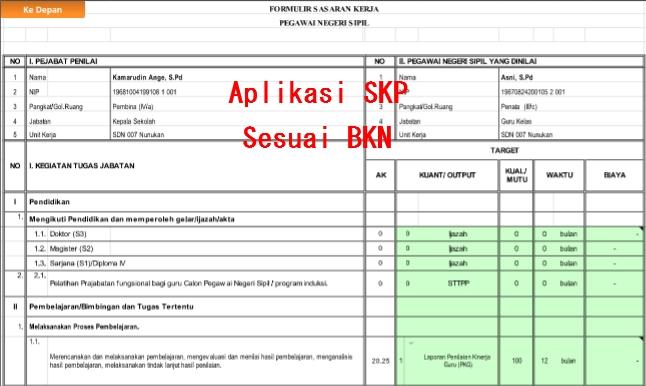 Download Aplikasi SKP Kenaikan Pangkat Guru PNS Sesuai Dengan BKN
