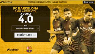 betfair supercuota victoria de Barcelona a Espanyol liga 9 Septiembre