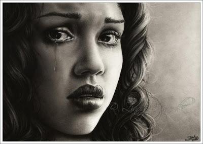 DIbujo a lápiz o imagen de Jessica Alba