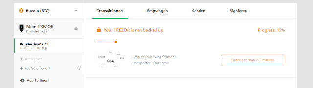 Membuat Backup Trezor Model T