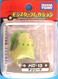 Chikorita Pokemon Figure Takara Tomy Monster Collection MC series