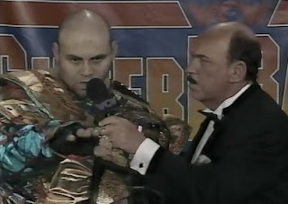 WCW SUPERBRAWl VI 1996 - Konnan kept looking at the wrong camera for his interview with Mean Gene Okerlund