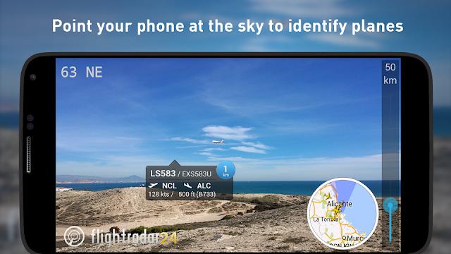 تحديث رائع لتطبيق مراقبة حركة الطائرات Flightradar24 Pro 6.7