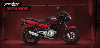 New Bajaj Pulsar 150 side view Red