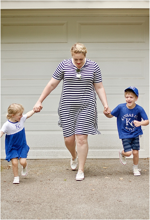 baseball game outfits for mom and kids