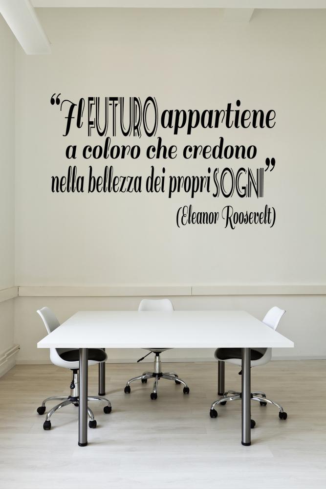 Le parole di elzapoppin scritte adesive motivazionali per for Scritte da parete