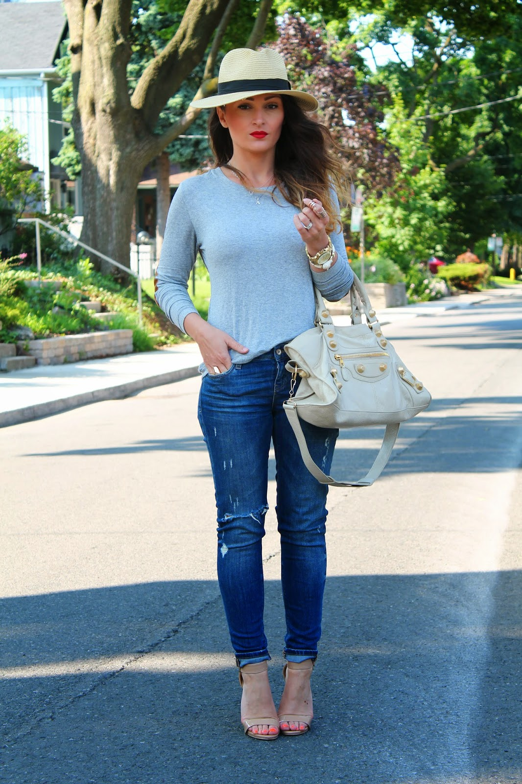 a8a20fc74a3 Casual Chic In Ripped Jeans and Loose Top