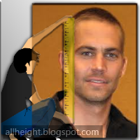 What is the height of Paul Walker?