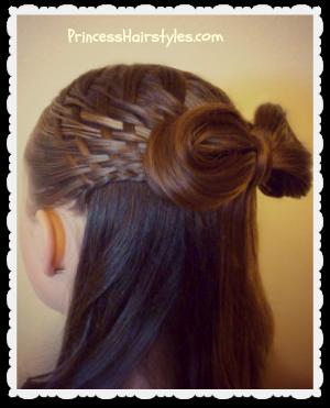 Surprising Hairstyles For Girls Princess Hairstyles Hair Bows Short Hairstyles For Black Women Fulllsitofus
