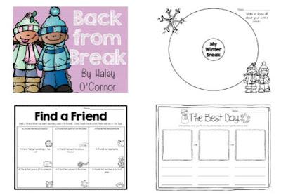 Imprimible gratuito para realizar distintas actividades en la vuelta al cole después de navidades