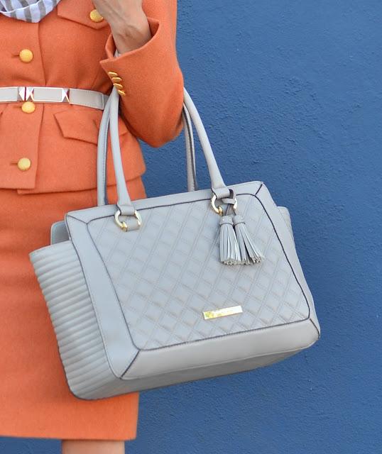 Anne Klein taupe handbag