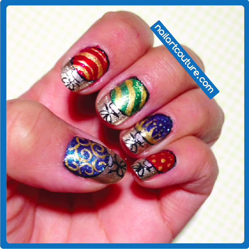 christmas ornament nail art - photo #19