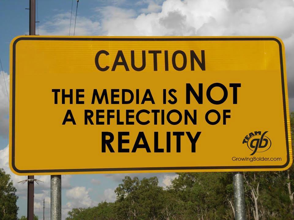 media does not reflect reality