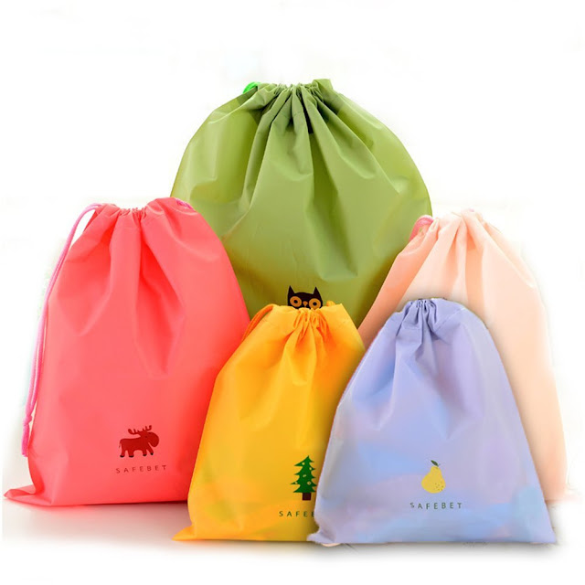 Bingone Set of 5 Waterproof Drawstring Bags $10 (reg $16)