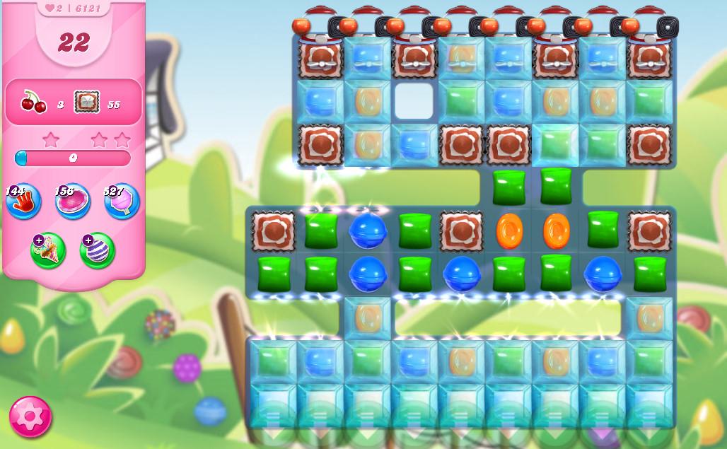 Candy Crush Saga level 6121
