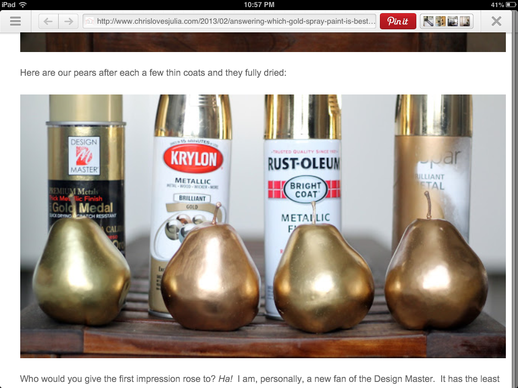 Laura Thoughts: Gold Spray Painted Shells
