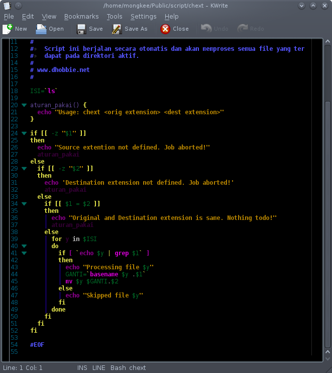 Mengganti Ekstensi File Secara Massal Dengan Bash Script