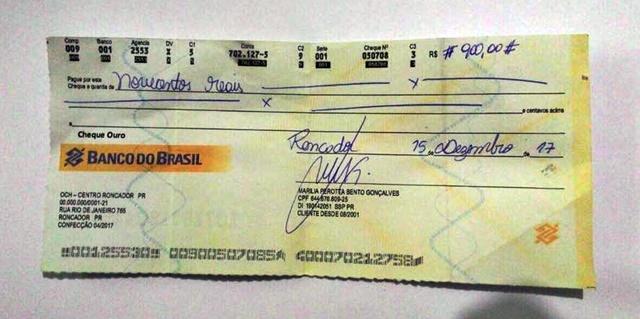 Estelionatários passam cheques falsos em nome do prefeito de Iretama e da prefeita de Roncador