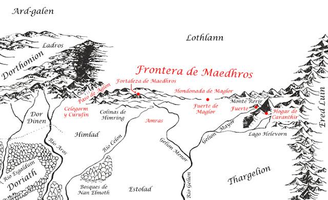 Las Tierras de Maedhros y los Noldor durante la Primera Edad