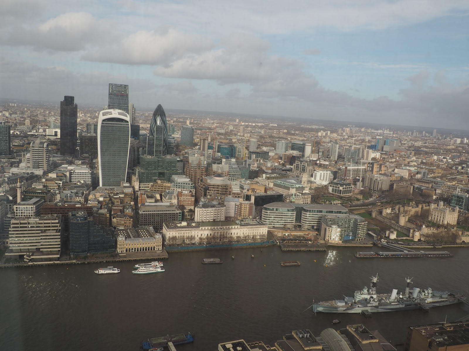 London Skyline from GONG bar at The Shard