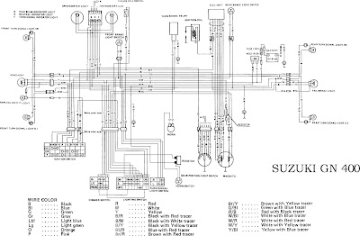 suzuki gn400 motorcycle complete electrical wiring diagram all rh diagramonwiring blogspot com suzuki gn400 wiring diagram 1981 suzuki gn400 wiring diagram