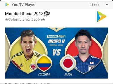 partidos de colombia en el mundial 2018