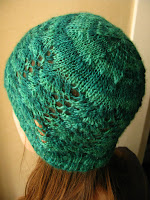 lace hat knitting pattern handspun bfl bluefaced leicester