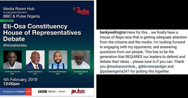 Banky W Shows Readiness To Engage Political Opponents In Debate
