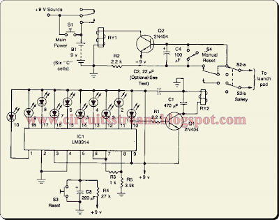 Model Rocket Launcher Circuit Diagram
