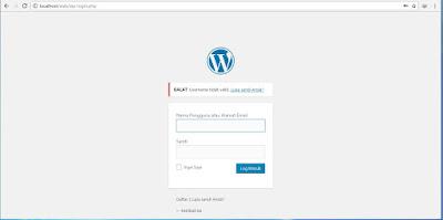 Mengatasi tidak bisa login atau Lupa kata sandi wordpress di XAMPP