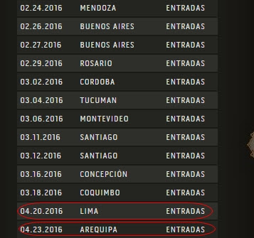 Maná en Arequipa 2016