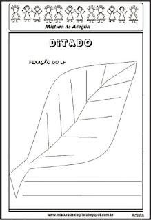 Treino ortográfico lh de folha