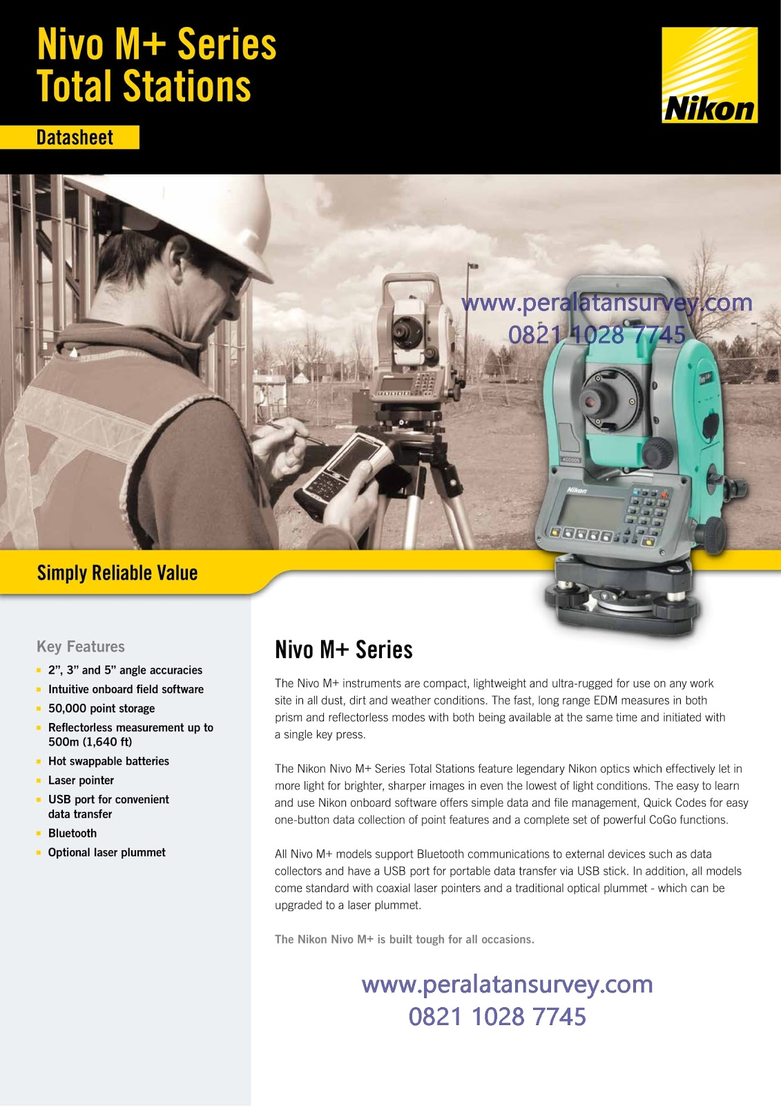 Brosur Total Station Nikon Nivo M Series
