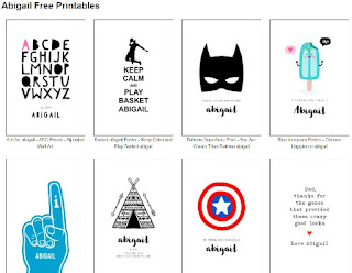 Image: free printable name posters | The world of free printables | Popular nursery art | Inspiring calendars and planners