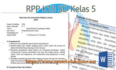 Rpp SD (Semua Kelas ) Kurikulum 2013 Format Baru