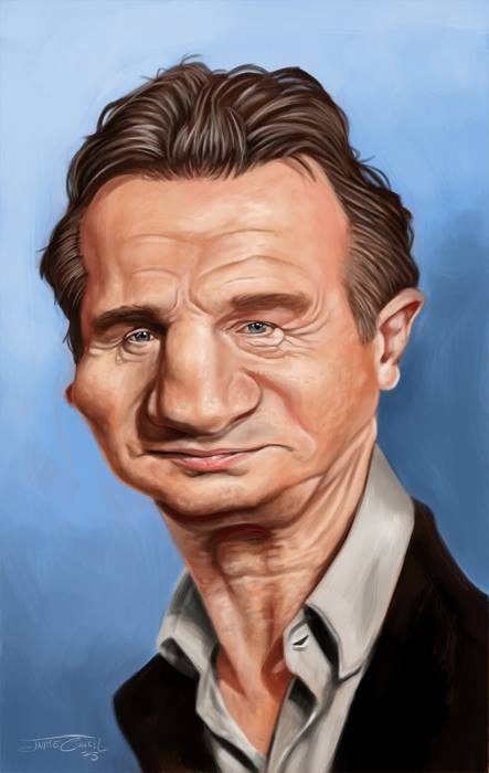 Liam Neeson por Jaume Cullell