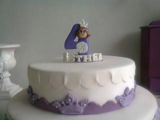 Topo de bolo Princesa Sofia de biscuit