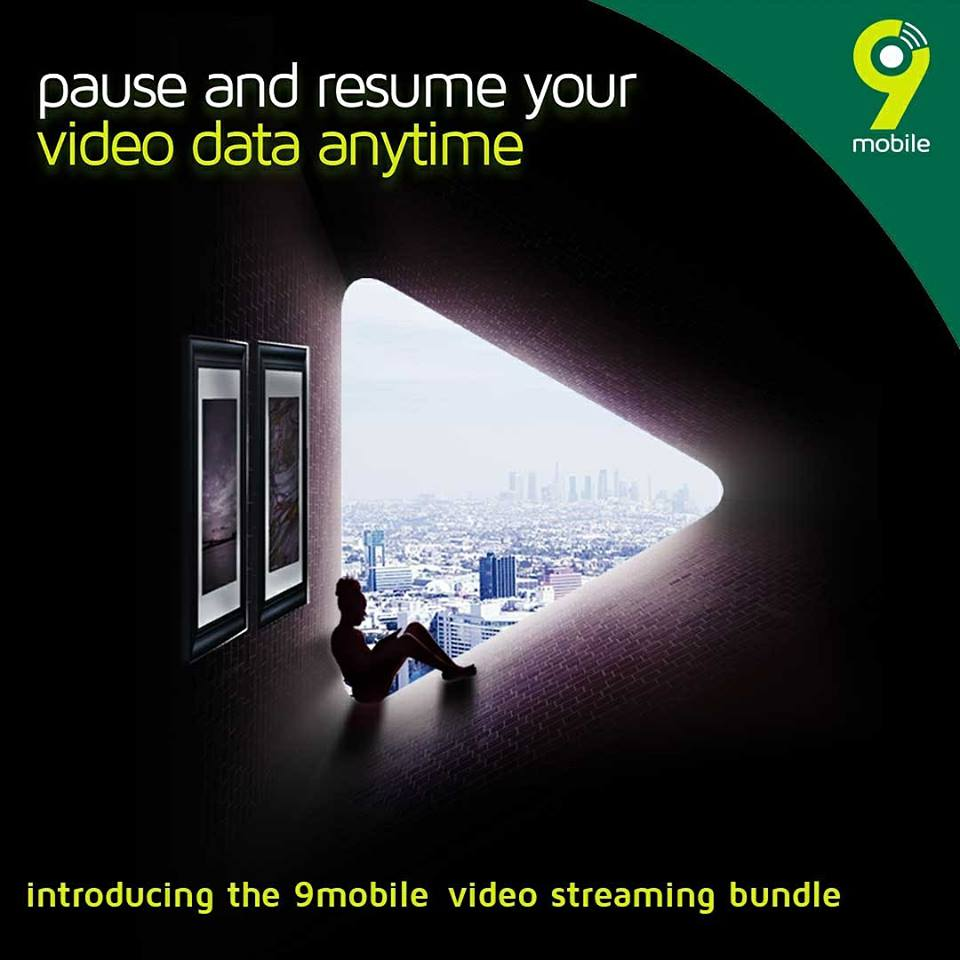 9mobile unveiled video streaming bundles; N500 for 5GB and N1000 for 10GB