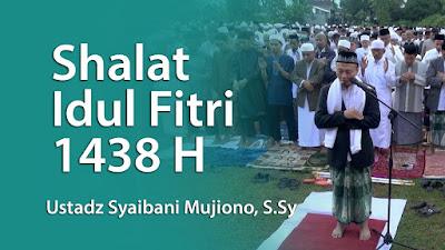 Shalat idul Fitri 1438 H