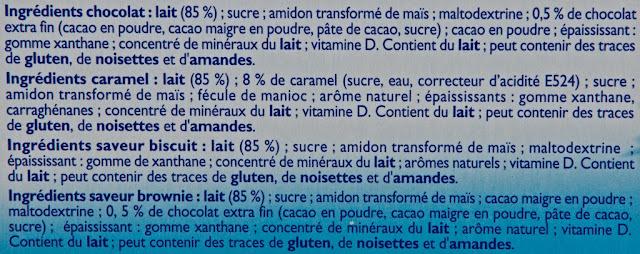 Récré O'lé Multi-Variétés - Mont Blanc - Crème dessert - Caramel - Biscuit - Brownie - Chocolat - Ingrédients
