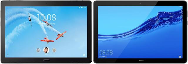 Comparativa tablets Android 200 euros Lenovo Tab P10 vs Huawei Mediapad T5