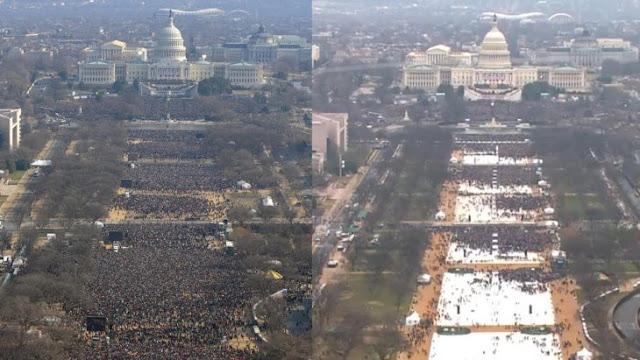Trump queda en ridículo tras comparar inauguración con Obama
