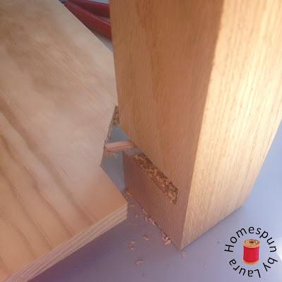 DIY repurposed window table construction process