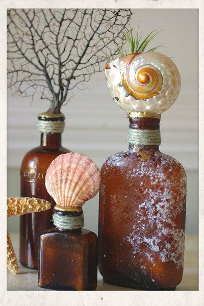 καλοκαιρινη διακοσμηση γυαλινα μπουκαλια,χειροποιητες κατασκευες απο γυαλινα μπουκαλια καλοκαιρινη διακοσμηση