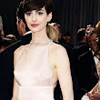 {Tulle & Chantilly} Anne Hathaway Oscar 2013 Prada Pale Pink Inspired Mikado Little White Dress